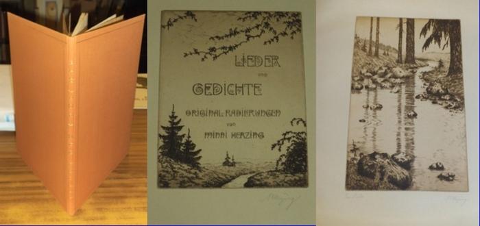 Herzing, Minni (Radierungen): Lieder und Gedichte. Originalradierungen von Minni Herzing. 0