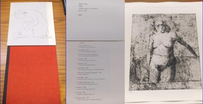 Vent, Hans : Akte. 12 Radierungen aus den Jahren 1965 bis 1983 von Hans Vent.