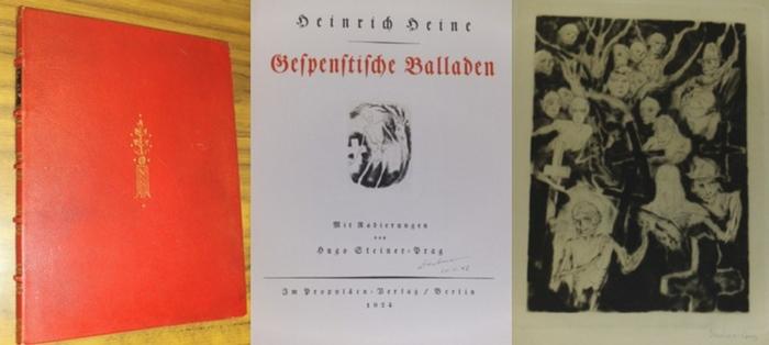 Heine, Heinrich / Hugo Steiner-Prag (Radierungen) : Gespenstische Balladen. - mit Radierungen von Hugo Steiner-Prag.