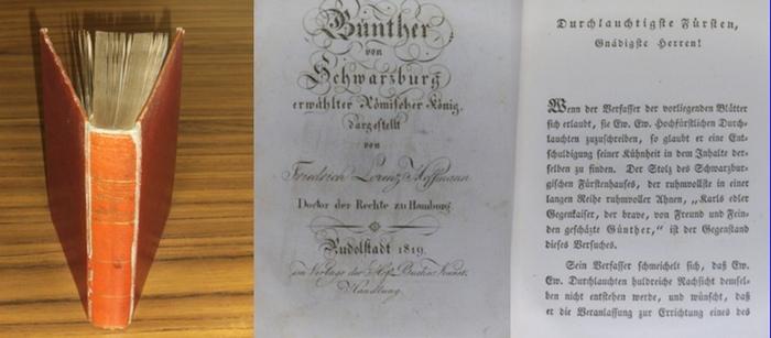 Günther von Schwarzburg. - Hoffmann, Friedrich Lorenz Dr.: Günther von Schwarzburg erwählter Römischer König. 0