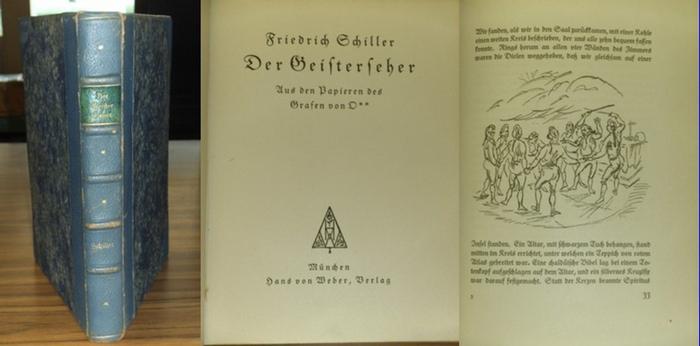 Schiller, Friedrich / Königer,G.(Zeichnungen) : Der Geisterseher. Aus den Papieren des Grafen von O** . Mit 42 Zinkographien von Gustel Königer. 0
