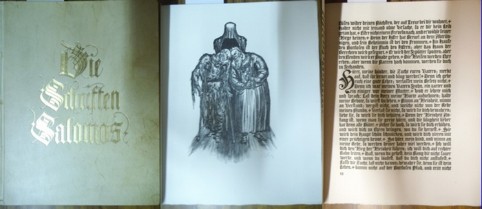 Goldschmitt, Bruno: Die Schriften Salomos. (= 10. Band der Reihe 'Meisterwerke der Weltliteratur mit OriginalGraphik'). 0