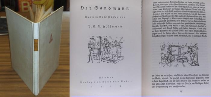 Hoffmann, E.T.A. / Gustel Königer: Der Sandmann. Aus den Nachtstücken. Ursteinzeichnungen von Gustel Königer.