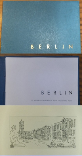 Voss, Ingeborg: Berlin. 10 Federzeichnungen von Ingeborg Voss. 0