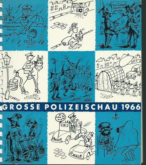 Berlin. - Grosse Polizeischau 1966. 4. September 1966 im Olympia-Stadion, Berlin. Gesamtleitung: Kommando der Schutzpolizei. 0