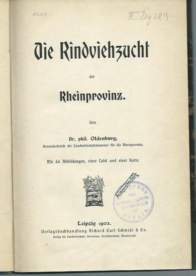 Oldenburg: Die Rindviehzucht der Rheinprovinz. 0