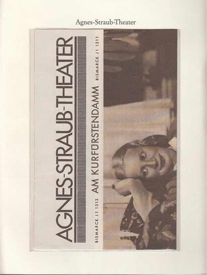 Berlin-Archiv. - BerlinArchiv (Hrsg.v. Hans-Werner Klünner und Helmut Börsch-Supan): Lieferung BE 01064 - Agnes-Straub-Theater am Kurfürstendamm. Werbeprospekt aus dem Jahre 1935. Faksimile. 0