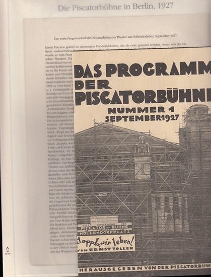 Berlin-Archiv herausgegeben von Hans-Werner Klünner und Helmut Börsch-Supan. - BerlinArchiv (Hrsg.v. Hans-Werner Klünner und Helmut Börsch-Supan): Das erste Programmheft der Piscatorbühne im Theater am Nollendorfplatz, September 1927. 0