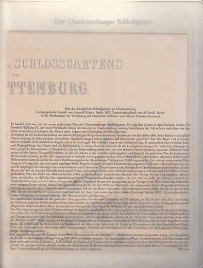 BerlinArchiv herausgegeben von Hans-Werner Klünner und Helmut Börsch-Supan. - Lithogr.Anstalt Leopold Kraatz (Hrsg.): Plan des Königl. Schloßgartens zu Charlottenburg. Lithograph. Anstalt von Leopold Kraatz, Berlin 1857. ( = Lieferung BE 01098 aus Berl... 0