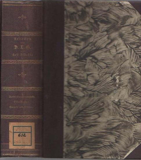 Böhmer, Dr. G. // Bruck, Werner Friedrich // Hoffmann, M.: Arbeiten der Deutschen Landwirtschafts-Gesellschaft. 4 Hefte in einem Band. 1) Heft 243 - Böhmer, G.: Siebenjährige Runkelrübenanbauversuche (1904-1910). / 2) Heft 244 - Bruck, Werner Friedrich... 0