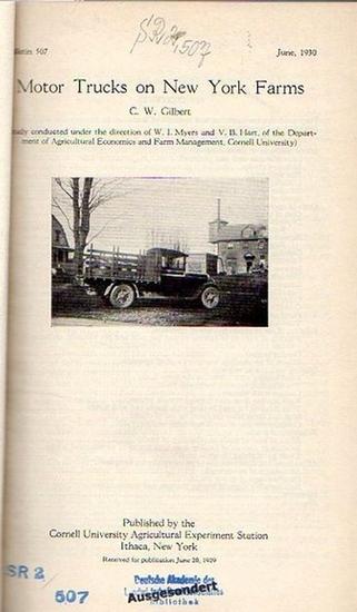 Gilbert, C. W. // Muenscher, W. C. // Knott, J. E. // Price, Walter V. and Whitaker, Randall // Herrick, Glenn W. // Knott, J. E. // Canon, Helen: Gilbert, C. W.: Motor Trucks on New York Farms. (Bulletin 507: p. 1-55) // Muenscher, W. C.: Lead-Arsenate E 0