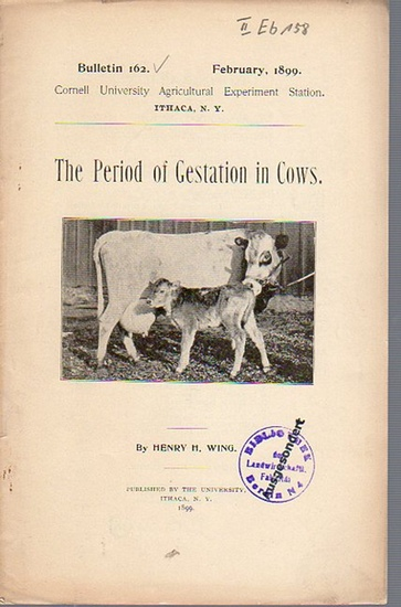 Wing, Henry H.: The Period of Gestation in Cows. (= Bulletin 162, February, 1899. Cornell University Agricultural Experiment Station. Ithaca, N. Y.). 0