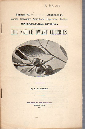 Bailey, L. H.: The Native Dwarf Cherries. (= Bulletin 70, August, 1894. Cornell University Agricultural Experiment Station. Horticultural Division.). 0
