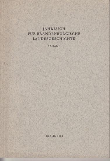 Jahrbuch für Brandenburgische Landesgeschichte. - Felix Escher / Lorenz Friedrich / Dr. Heinz Gebhardt / Eckart Henning / Martin Henning / Gerhard Küchler / Wolfgang Neugebauer / Kurt Pomplun / Dr. Werner Vogel (Hrsg.): Jahrbuch für brandenburgische La...