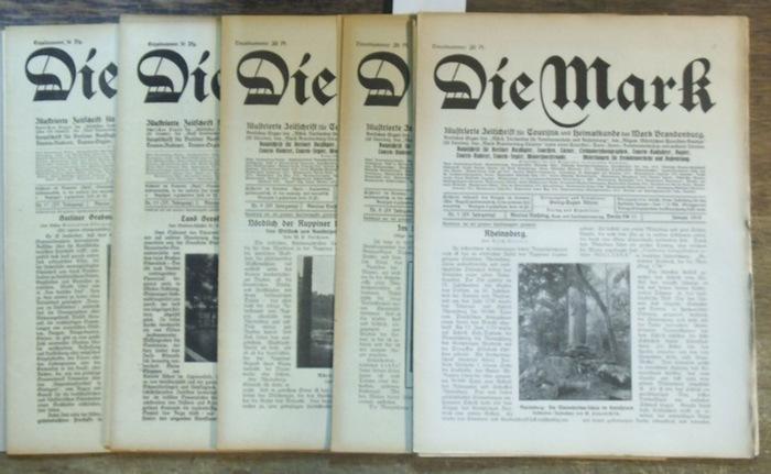 Mark, Die. - Kitzler, Georg-Eugen (Hrsg.). - Eugen G. Schonert / Stanislaw Skoczypczek / Chr. Voigt / Erich Schwandt / Reinh. Jülicher / W. E. Boschann / Erich Griebel / Georg Schulze-Moering / Alfred Juhre u. a.: Die Mark. XV. ( 15. ) Jahrgang 1919, k...