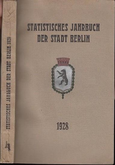 Büchner, Otto: Statistisches Jahrbuch der Stadt Berlin. 4. Jahrgang 1928. Herausgegeben vom Statistischen Amt der Stadt Berlin. Mit Vorwort von Otto Büchner.