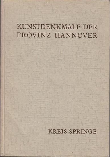 Jürgens, Heiner ; Nöldeke, Arnold, Freiherr von Welk, Joachim (Bearb.): Die Kunstdenkmale des Kreises Springe. (=Die Kunstdenkmale der Provinz Hannover, hrsg. Von Hermann Deckert ; I. 3. Bd. 29)