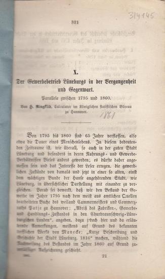Ringklib, H.: Der Gewerbebetrieb Lüneburgs in der Vergangenheit und Gegenwart. Parallele zwischen 1975 und 1860.