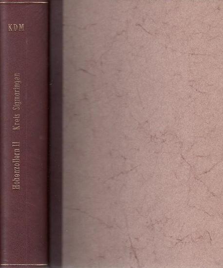 Sigmaringen.- Friedrich Hossfeld / Hans Vogel / Walther Genzmer (Bearb.) - Hrsg. Walther Genzmer : Zweiter Band: Kreis Sigmaringen (= Die Kunstdenkmäler Hohenzollerns, Band II).