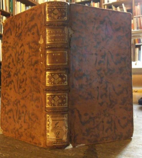 Leclerc, Georges-Louis, Comte de Buffon (1707 - 1788): Histoire naturelle, generale et particuliere. Tome V (5). Oeuvres completes: Discours sur la nature des Animaux.