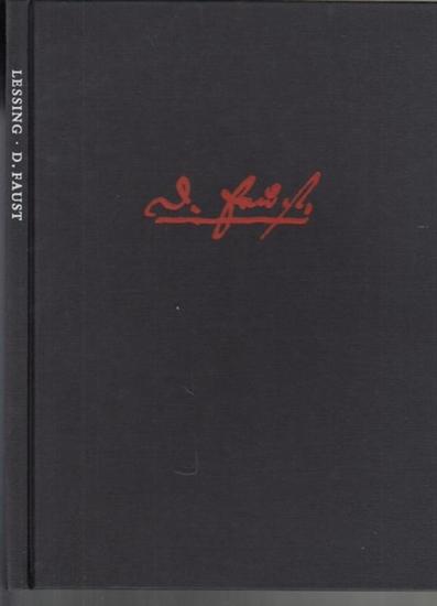 Lessing, Gotthold Ephraim, - Milde, Wolfgang (Hrsg.): D. Faust : Fragmente und Berichte. Mit einem vollständigen Faksimile der Fausthandschrift. Hrsg. u. eingeleitet von Wolfgang Milde.