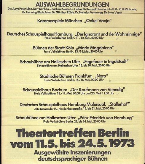 Berliner Theatertreffen 197. - Jury : Blaha, Paul, Iden, Peter / Kaiser, Joachim Dr. / Karasek, Hellmuth Dr. / Luft, Friedrich / Michaelis, Rolf Dr. / Rischbieter, Henning Dr. / Schwab - Felisch, Hans / Rühle, Günther Dr. / Vormweg, Heinrich Dr. / Vose...