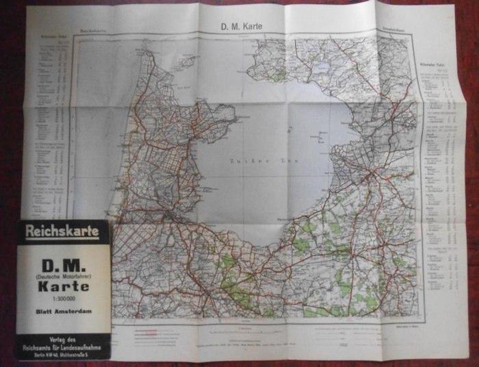Amsterdam. - Reichskarte. - Reichskarte. D.M. (Deutsche Motorfahrer) Karte. Blatt Amsterdam.
