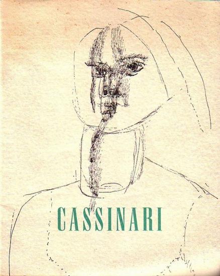 Cassinari, Bruno. - Haußmann, Fritz (Klischees). - Bruno Cassinari. Ausstellung vom 19. November 1960 bis 8. Januar 1961 des Kunstvereins Darmstadt.