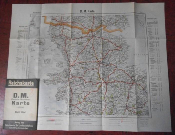 Reichskarte. - Kiel. - Reichskarte. D.M. (Deutsche Motorfahrer) Karte. Blatt Kiel.