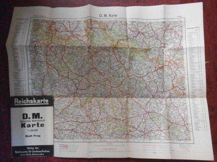 Prag. - Reichskarte. - Reichskarte. D.M. (Deutsche Motorfahrer) Karte. Blatt Prag.