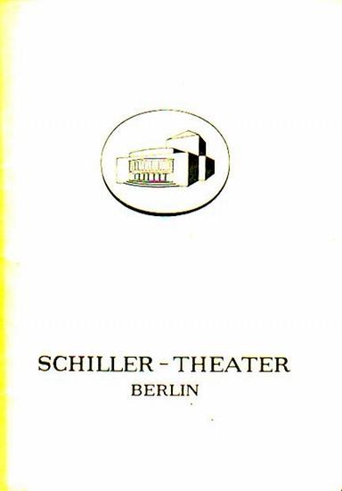 """Frings, Behan, Giraudoux. Berlin Schiller Theater -Boleslaw Barlog- Intendanz (Hrsg.) Schau heimwärts, Engel, """"Der Mann von morgen früh"""", """"Die Irre von Chaillot"""". Programmhefte des Schiller Theaters Berlin, Spielzeit 1958/ 1959. Hef..."""