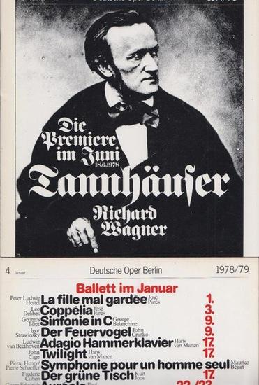 """Rossini, Gioacchino ; Wagner, Richard ; Humperdinck, Engelbert ; Smetana, Friedrich. Deutsche Oper Berlin- Prof. Siegfried Palm - Intendant (Hrsg.): Der Türke in Italien ; """"Der Fliegende Holländer"""" ; """"Hänsel und Gretel"""" ; """"Die ..."""