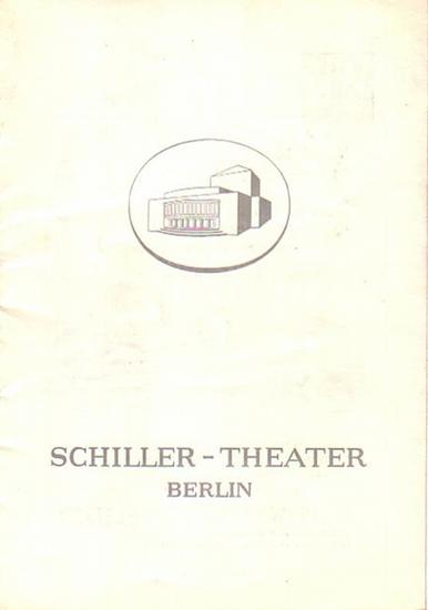 """Schiller, Thomas, Shakespeare, Kleist. Berlin Schiller Theater -Boleslaw Barlog- Intendanz (Hrsg.) Don Carlos, """"Unter dem Milchwald"""", """"Hamlet"""", """"Das Käthchen von Heilbronn"""" Programmhefte des Schiller Theaters Berlin, Spiel..."""