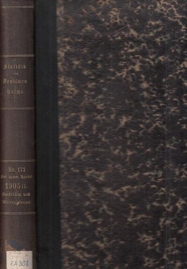 Statistik des Deutschen Reichs. / Kaiserliches Statistisches Amt. - Auswärtiger Handel des deutschen Zollgebiets im Jahre 1905 - 2. Teil - Darstellung nach Warengattungen