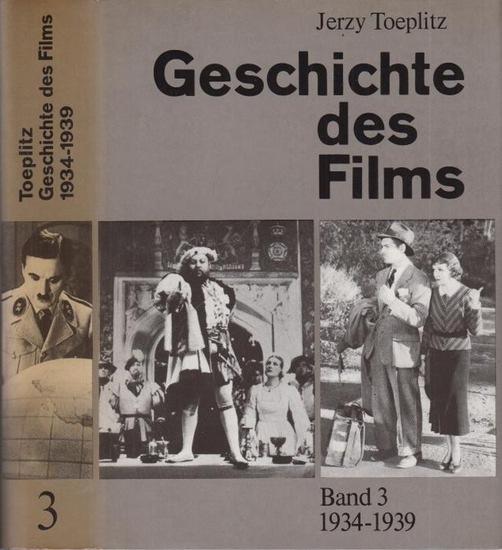 Toeplitz, Jerzy: Geschichte des Films. Bände 2 und 3 (von insgesamt 5). 2) 1928-1933. 3) 1934 -1939. Gesamtredaktion: Lilli Kaufmann. Bildteil und Register zusammengestellt von Fred Gehler.