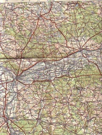 Frankfurt / Oder. - Übersichtskarte von Mitteleuropa Blatt 053: Frankfurt /Oder. Herausgegeben von der Preußischen Landesaufnahme 1905, Reichsamt für Landesaufnahme, Nachträge 1932. Maßstab 1:300 000.