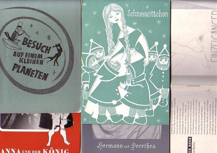 """Programmhefte. Berlin- Renaissance-Theater- Kurt Raeck - Intendanz- (Hrsg.): Hermann und Dorothea von J. W. von Goethe ; """"Besuch auf einem kleinen Planeten"""" von Gore Vidal ; """"Einzelgänger"""" von Robert Anderson ; """"Anna und der Kö..."""