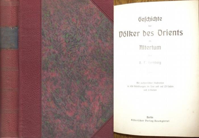 Hertzberg, G. F.: Geschichte der Völker des Orients im Altertum. Weltgeschichte 1. Band. Erste Abteilung. Geschichte des Altertums.