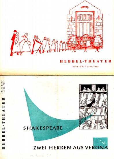 "Shakespeare, William ; Legyel, Melchior und Sauvajon, Marc-Gilbert. Hebbeltheater Berlin -Külüs, Rudolf, Intendant (Hrsg.): Zwei Herren aus Verona ; ""Ninotchka"". 2 Programmhefte des Hebbel-Theaters Berlin."