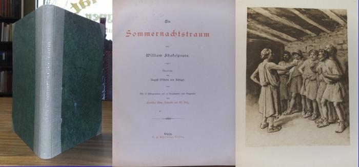 Shakespeare, William / Edm. Kanoldt und W. Volz (Illustrationen): Ein Sommernachtstraum.
