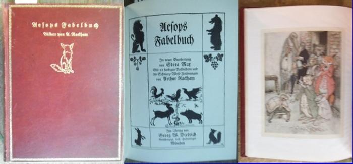 Rackham, Arthur (Ill.) / Max, Stora (Neubearb.): Aesops Fabelbuch. Mit 13 farbigen Vollbildern und 39 Schwarz-Weiß-Zeichnungen von Arthur Rackham / Stora, Max (neu bearbeitet). (= Kleinodien der Weltliteratur I).
