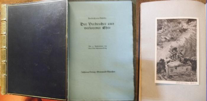 Ackermann-Paseg, Otto (Ill.) / Schiller, Friedrich von : Der Verbrecher aus verlorener Ehre. Mit 11 Federzeichnungen von Prof. Otto Ackermann-Paseg.