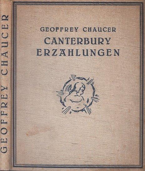 Flint, W. Russel (Ill.). - Chaucer, Geoffrey: Canterbury. Erzählungen. Nacherzählt und eingeleitet von Wilhelm Löwinger. Mit 30 montierten Faksimile-FarbBildern von W. Russel Flint.