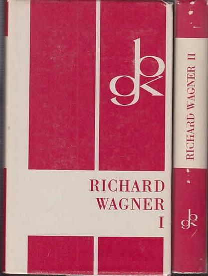 Wagner, Richard. - Walter Golther / Peter A. Faessler (Bearb.) Werke in zwei Bänden. Kpl. Auf Grund der von Richard Wagner selbst besorgten und von Walter Golther herausgegebenen Ausgabe neu bearbeitet von Peter A. Faessler. (=Bongs goldene Klassiker-B...
