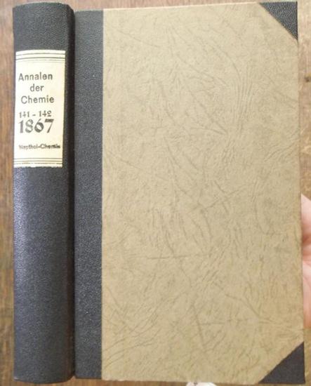 Annalen der Chemie - Friedrich Wöhler, Justus Liebig, Hermann Kopp, [ später E. Erlenmeyer, R. Fittig, A. v. Baeyer, O. Wallach, J. Volhard ] (Hrsg.): [ Justus Liebig's ] Annalen der Chemie und Pharmacie 1867, Band CXXXXI - CXXXXII ( 141 -142, Neu...