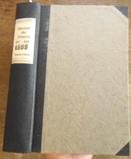 Annalen der Chemie - Hermann Kopp, A. W. Hofmann, A. Kekule, E. Erlenmeyer, Jacob Volhard (Hrsg.): Justus Liebig's Annalen der Chemie 1888. Band 247 -248. Zwei Teile mit jeweils 3 Heften in einem Band.