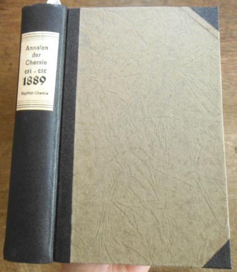Annalen der Chemie - Hermann Kopp, A. W. Hofmann, A. Kekule, E. Erlenmeyer, Jacob Volhard (Hrsg.): Justus Liebig's Annalen der Chemie 1889. Band 251 -252. Zwei Teile mit jeweils 3 Heften in einem Band.
