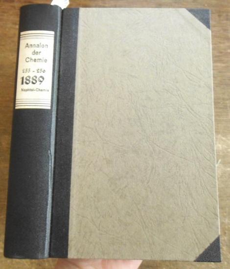 Annalen der Chemie - Hermann Kopp, A. W. Hofmann, A. Kekule, E. Erlenmeyer, Jacob Volhard (Hrsg.): Justus Liebig's Annalen der Chemie 1889. Band 255 -256. Zwei Teile mit jeweils 3 Heften in einem Band.
