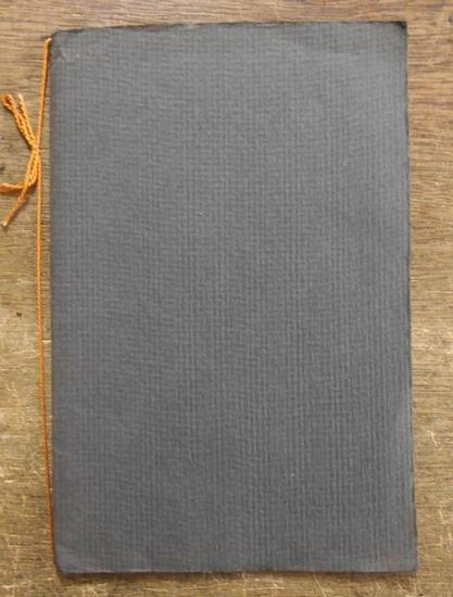 Goldschmidt, Günther: Lieder des Gefangenen. Eine Dichtung von Günther Goldschmidt, 1922. Handgeschrieben.