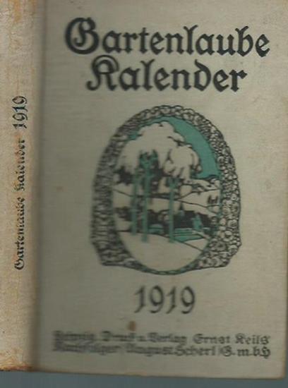Gartenlaube Kalender. - Gartenlaube Kalender 1919. 34. Jahrgang.